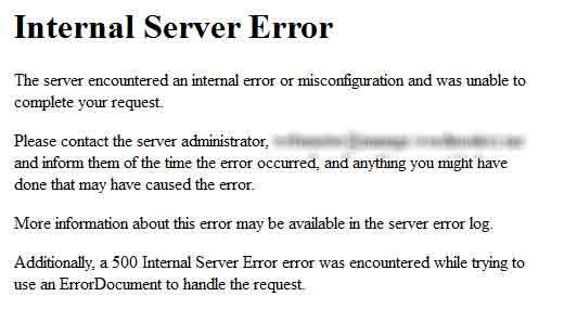 نحوه رفع مشکل Internal Server Error در وردپرس