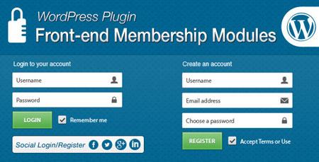 افزونه پیشرفته ورود و عضویت کاربران وردپرس Front-end
