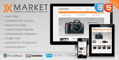 پوسته فارسی XMarket نسخه ۱٫۷ فروشگاه ساز ووکامرس